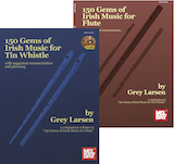150 Gems of Irish Music for Tin Whistle and 150 Gems of Irish Music for Flute